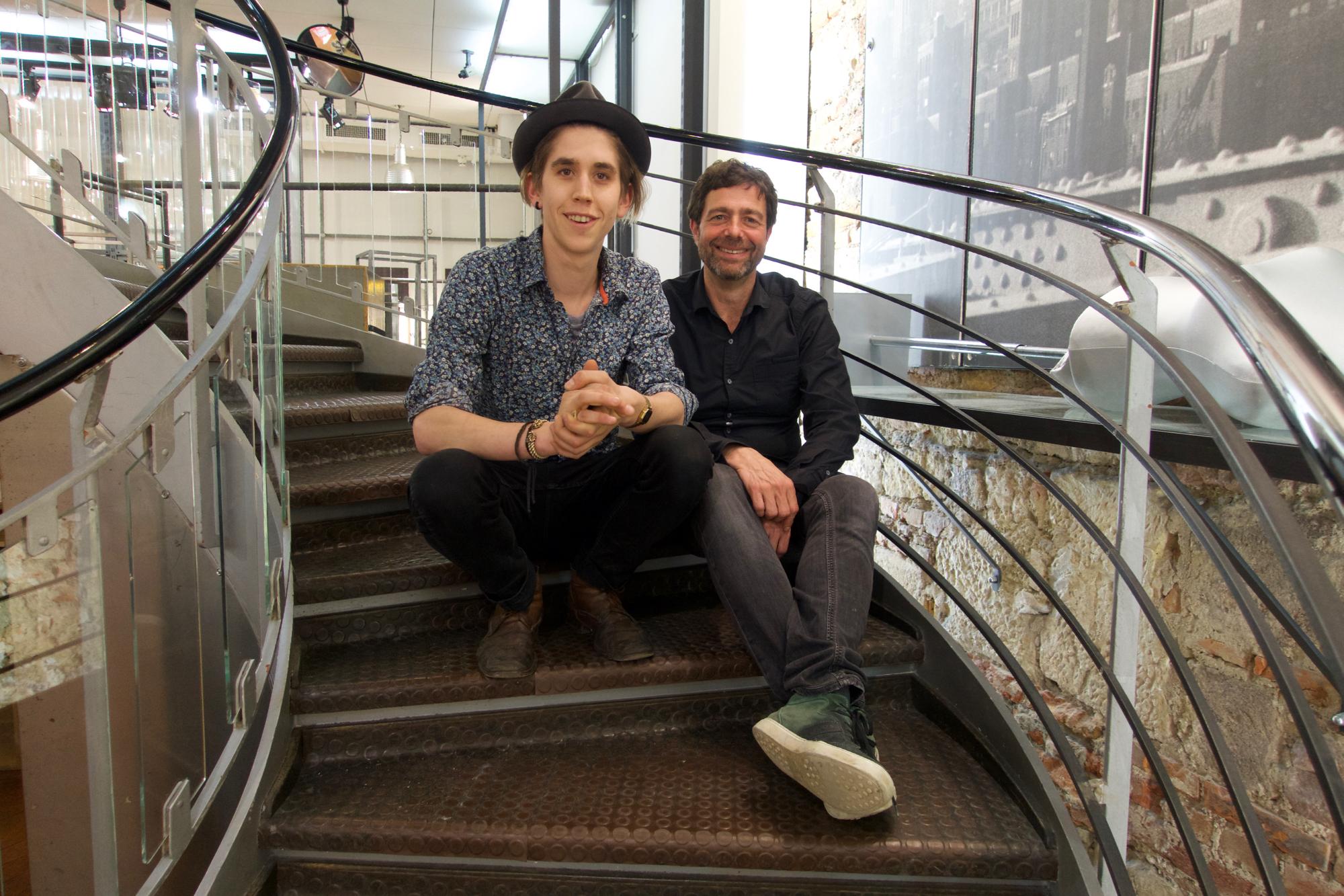 Die Macher der neuen Spira-Pop-Store-Plattform: Gastronom Elias Buess und Ladenbesitzer François Spira