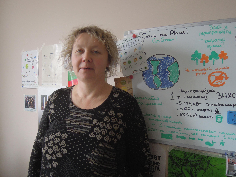 Irina Suchij von der Umweltorganisation Öko-Haus. Aufgenommen im März 2016 in Minsk, Belarus.