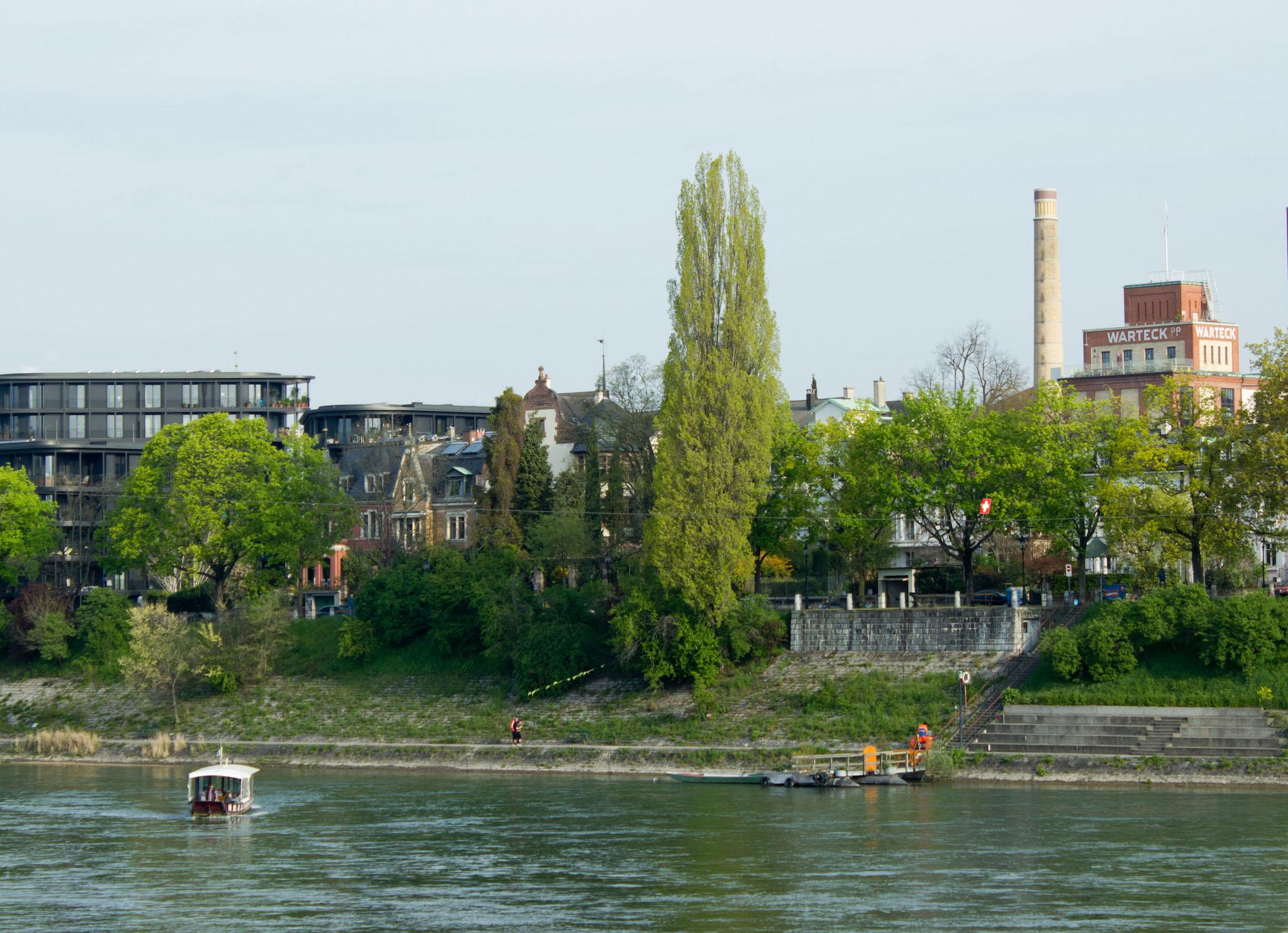 Standort der Buvette Schaffhauserrheinweg auf der Höhe des Fischerwegs.