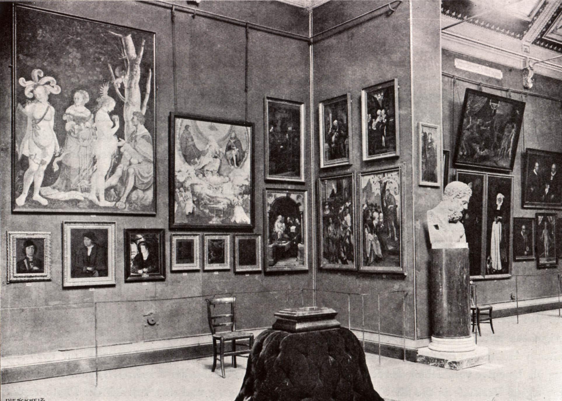 Die Kunstsammlung vor dem Neubau, eingepfercht im Dachstock des Basler Urmuseums an der Augustinergasse.