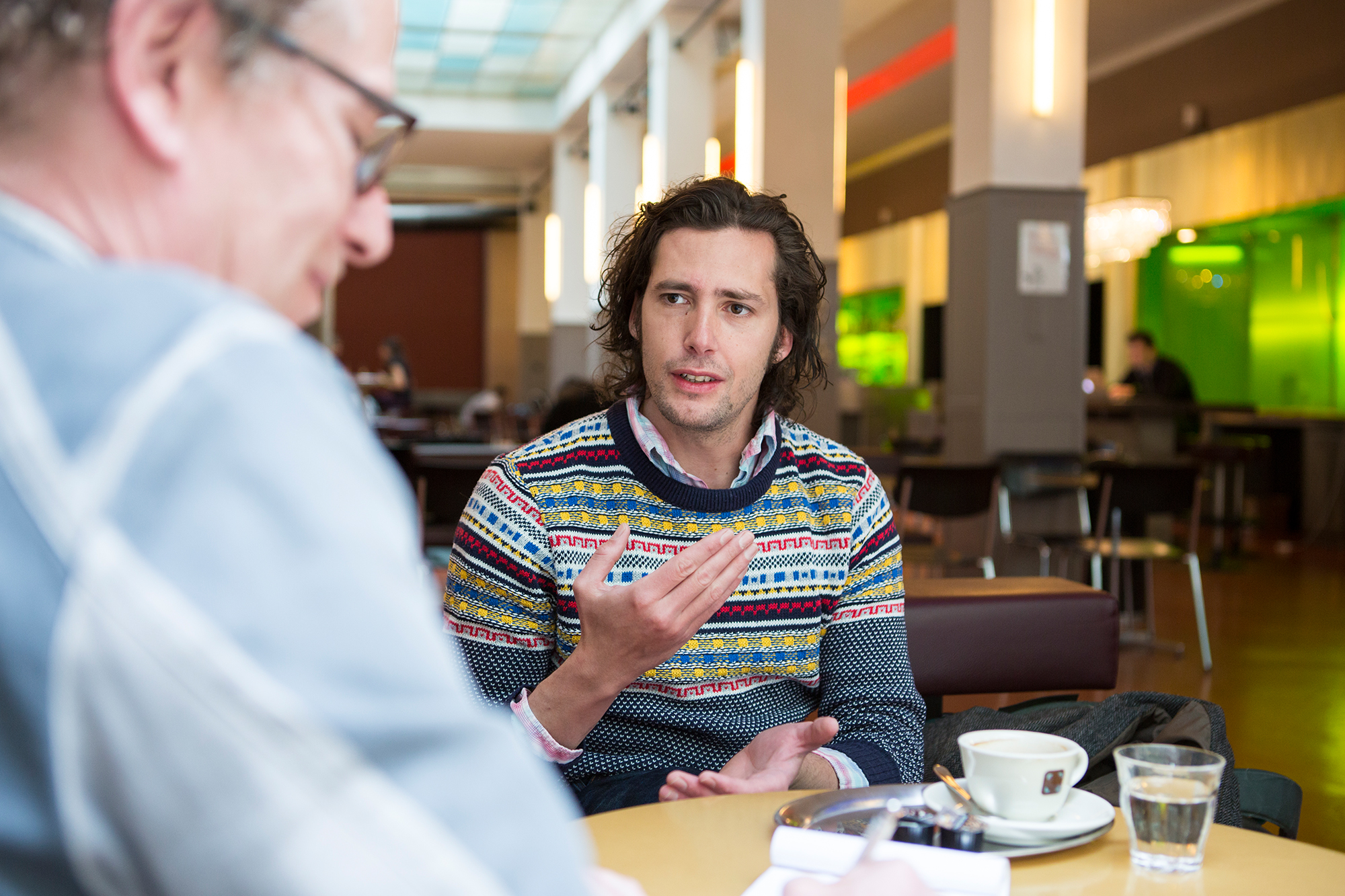 «Von meinem Naturell her bin ich eher der ruhige und zurückhaltende Typ»: Nicola Mastroberardino im Gespräch im Unternehmen Mitte.