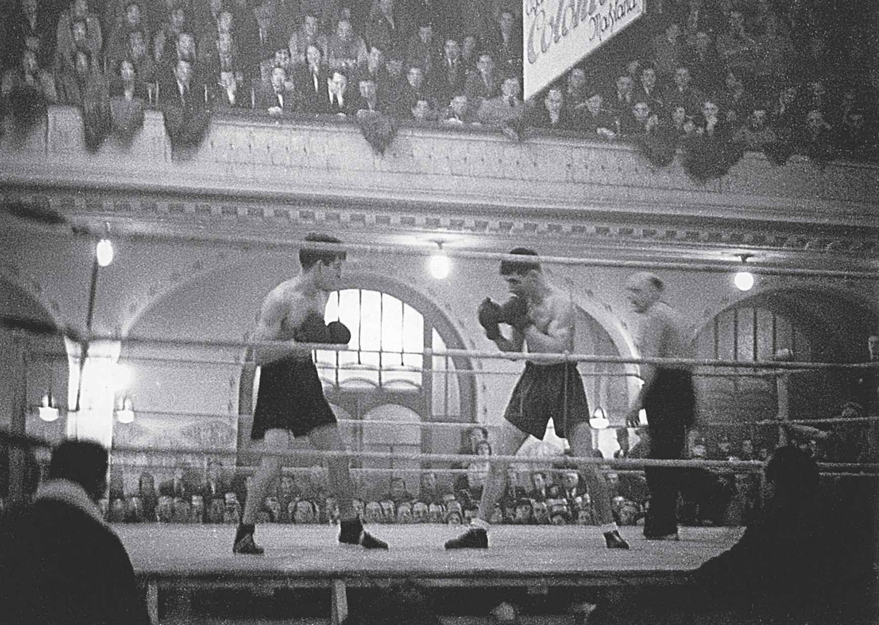 In seiner Heimatstadt Genf konnte Maurice Dubois (rechts) 1935 den Italiener Gino Cattaneo nach Punkten bezwingen.