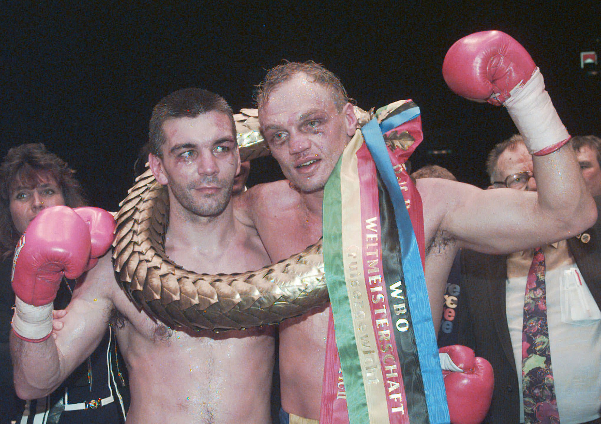 Zürich, 26. April 1997: Stefan Angehrn nach verlorenem Fight gegen Ralf Rocchigiani aus Deutschland.