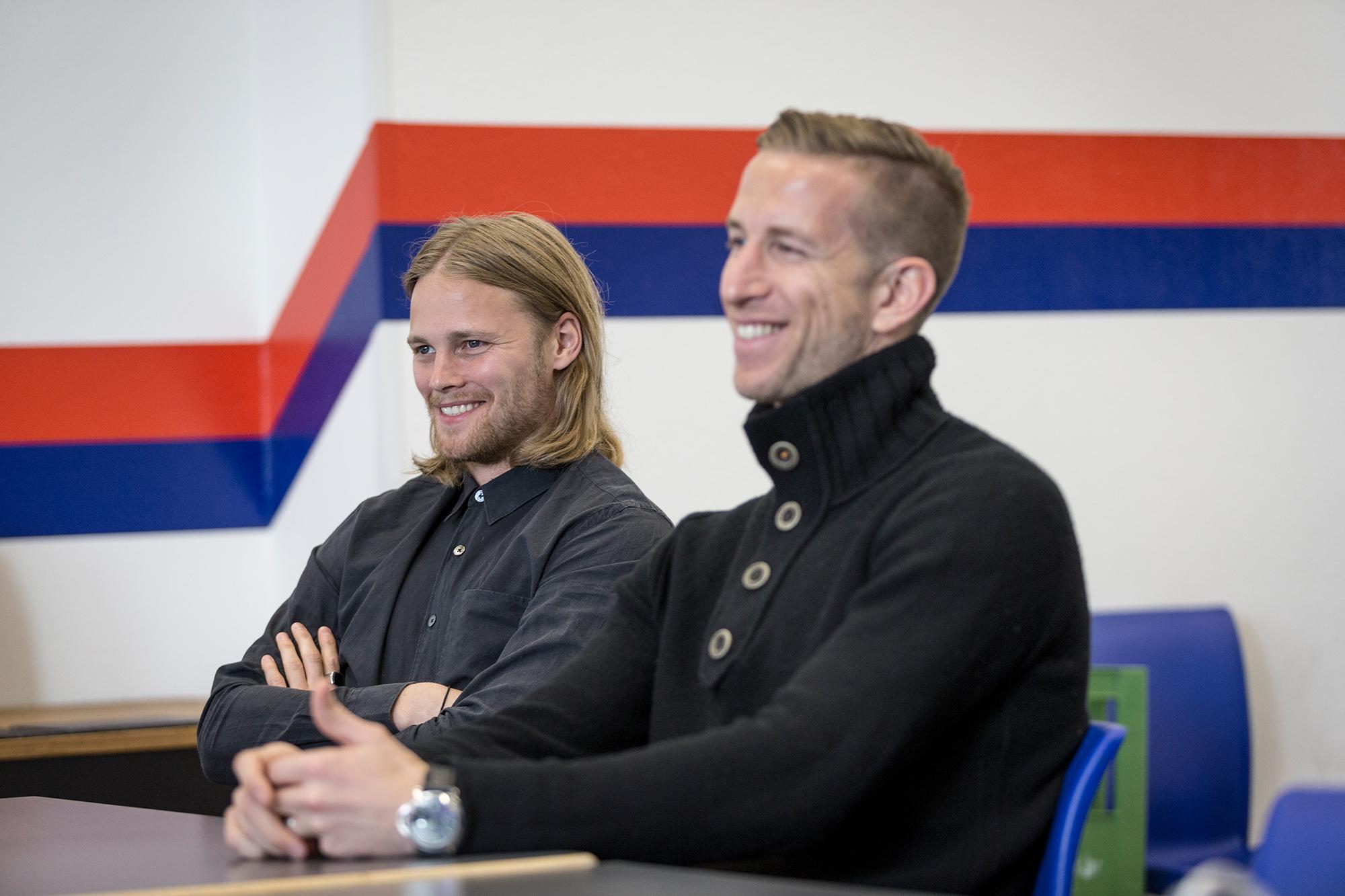 Marc Janko und Birkir Bjarnason, FC Basel, Mai 2016