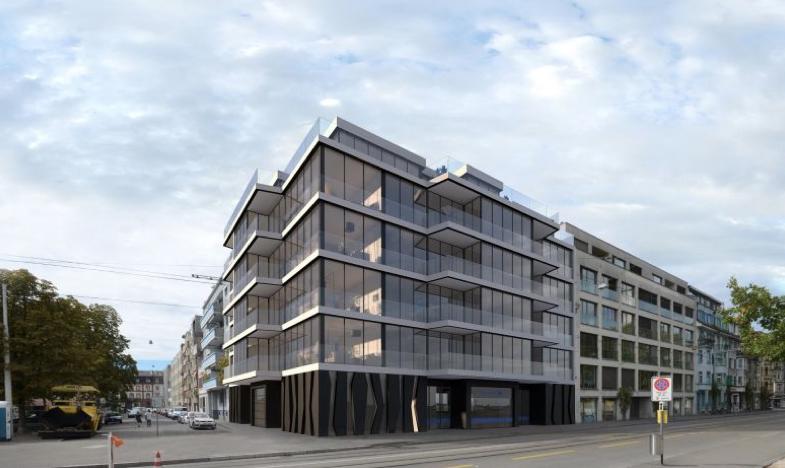 So soll der Neubau an der Elsässerstrasse 1 aussehen.