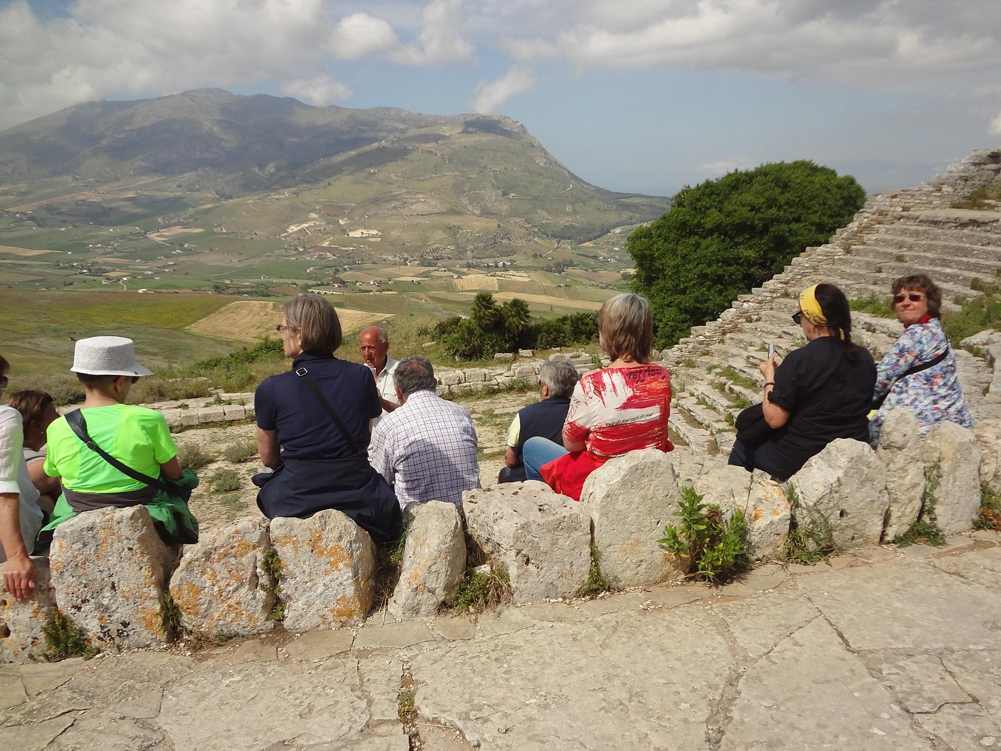 In hellenistischer Zeit floss der neue Reichtum Egestas in den Bau eines schmucken Theaters.