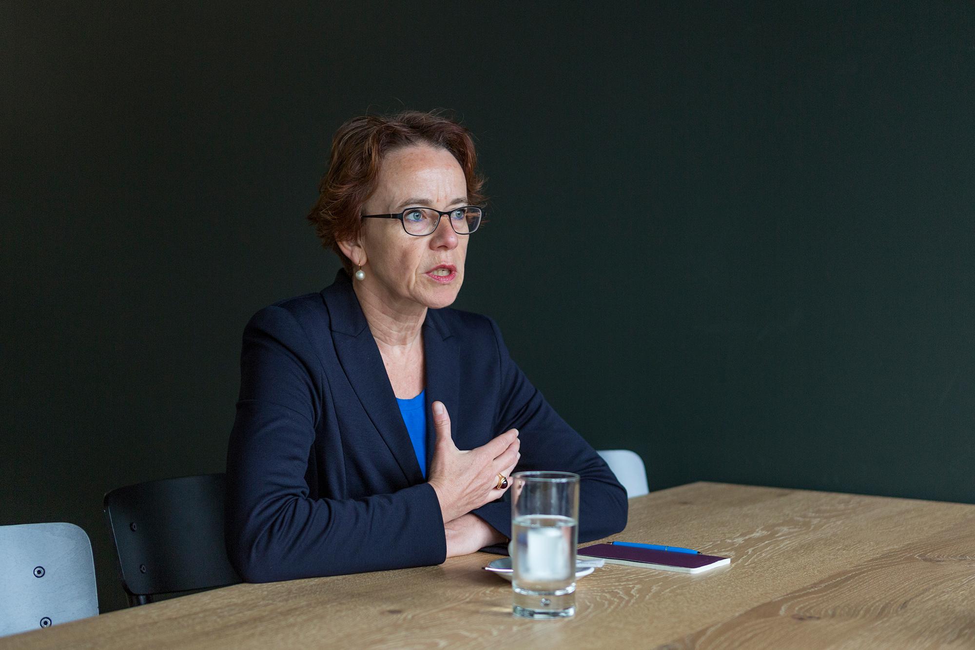 Beim Thema Unternehmenssteuerreform blüht die Finanzdirektorin auf.