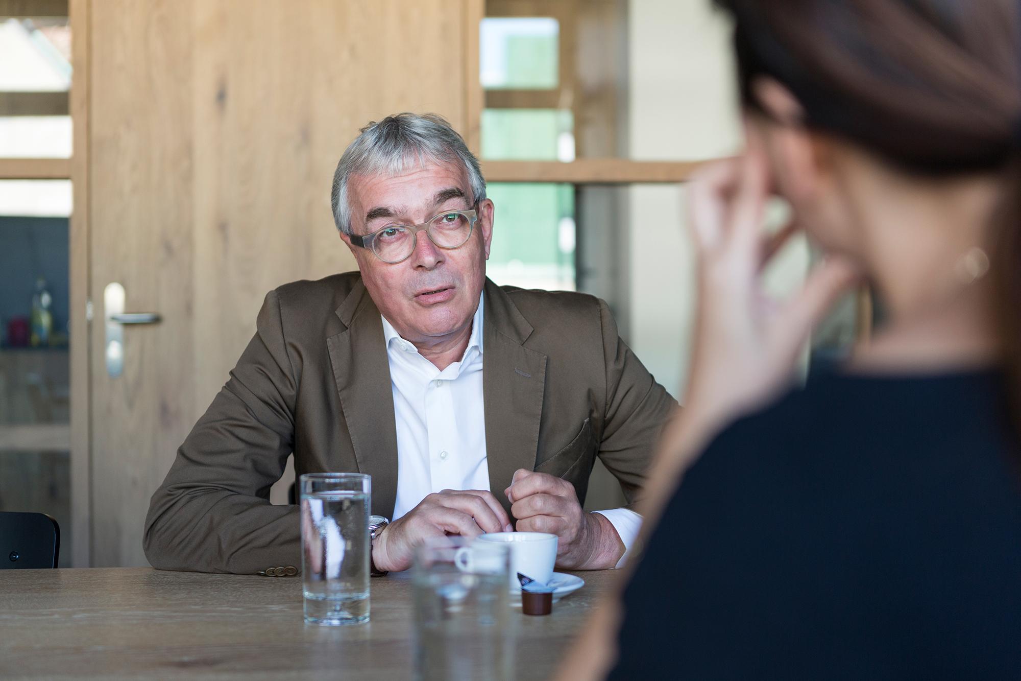 Vom KV-Rektor zum Regierungsrat: Christoph Brutschin. (