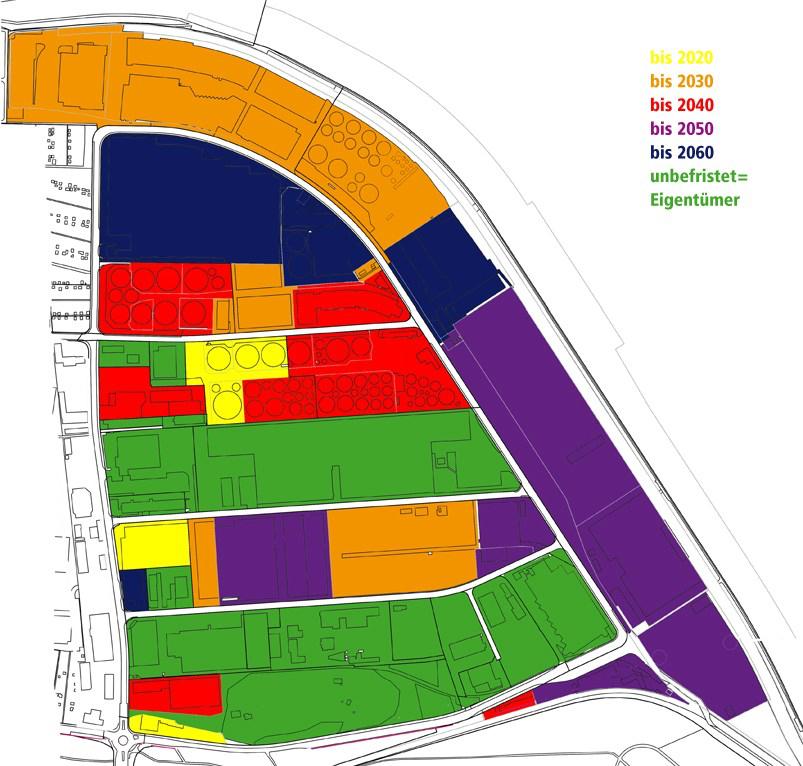Die Zonen am Birsfelder Hafen, und wann sie frei würden – die Politik müsste jetzt mit der Planung anfangen.