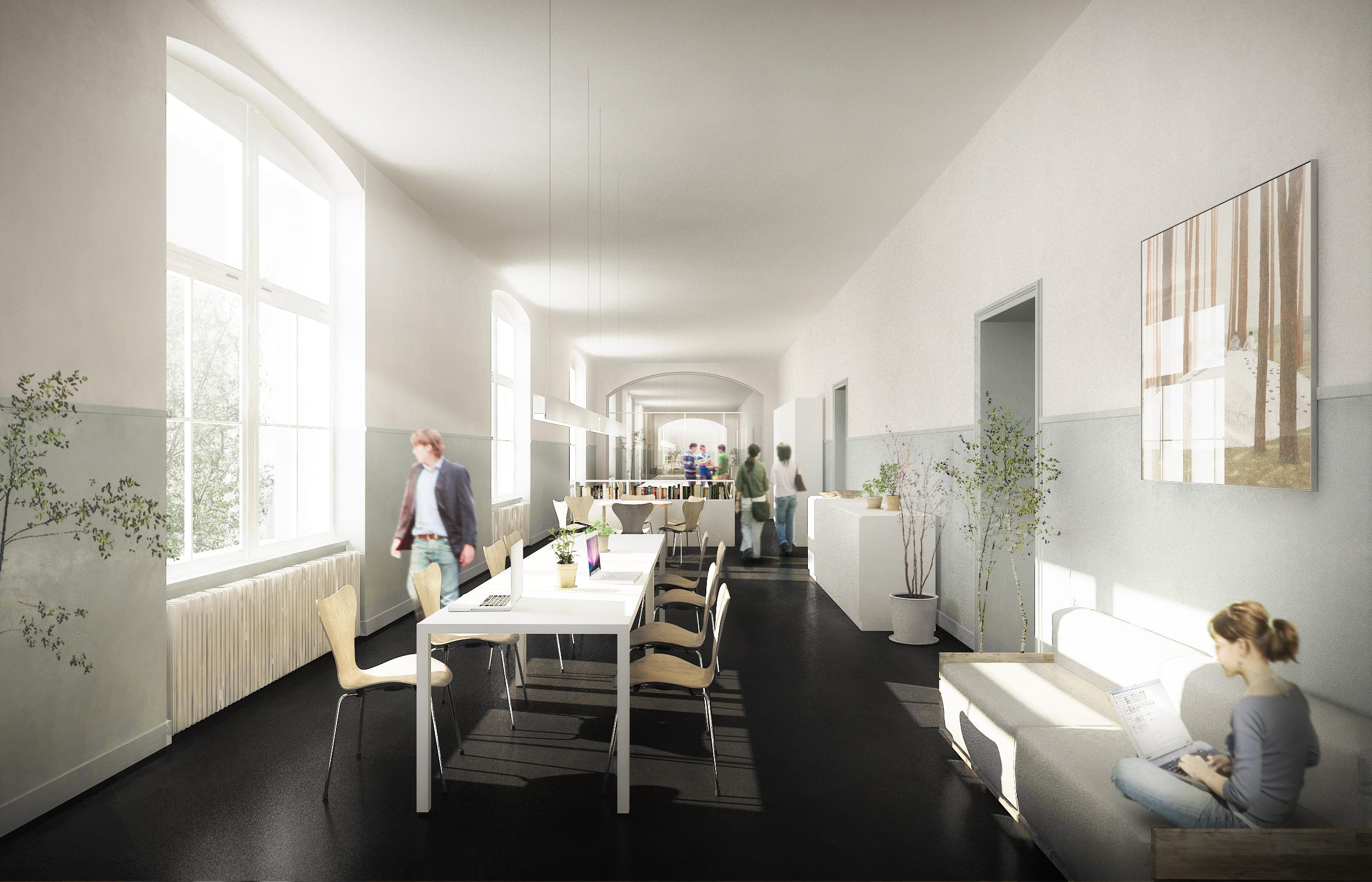 Platz für kreative Menschen auch in den Gängen des neuen Kulturzentrums.