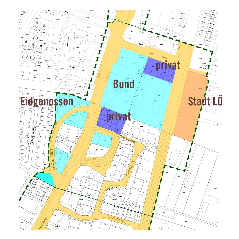 Der Zoll soll kompakter werden, um neue Flächen (z.B. für eine Begegnungszone) zu gewinnen. Das Riehener Stettenfeld ist aber nicht Teil des Projekts.