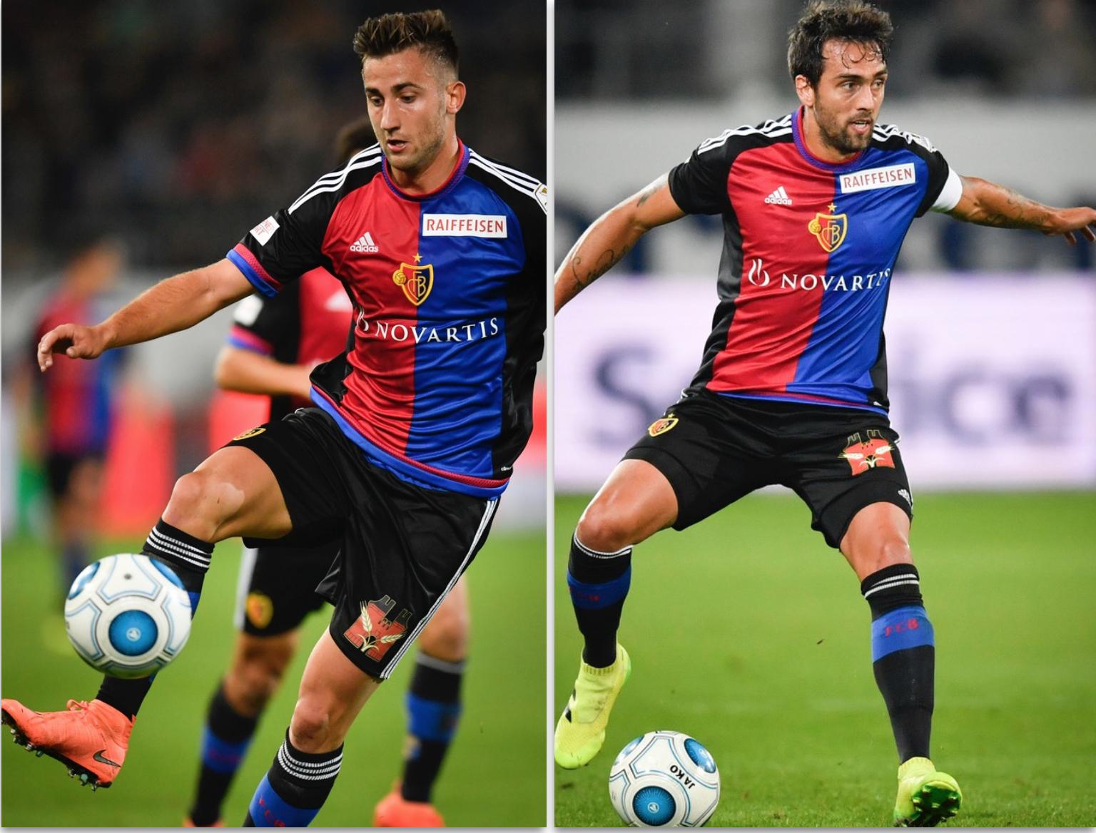 Andraz Sporar, links, und Matias Delgado