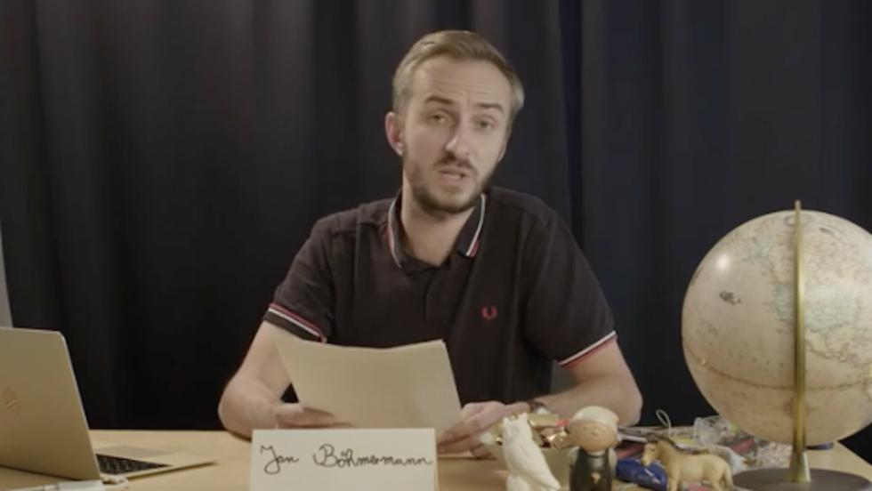 Böhmermann Stellungnahme