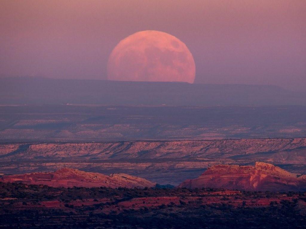 So schön könnte er sein: der Supermond gestern im US-Bundesstaat Utah.