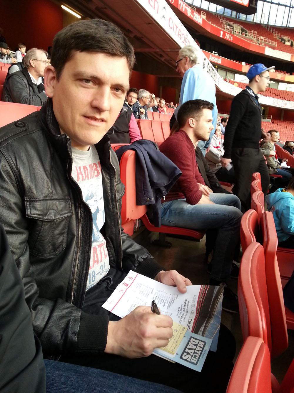 Christoph Beutenmüller im Emirates Stadium.