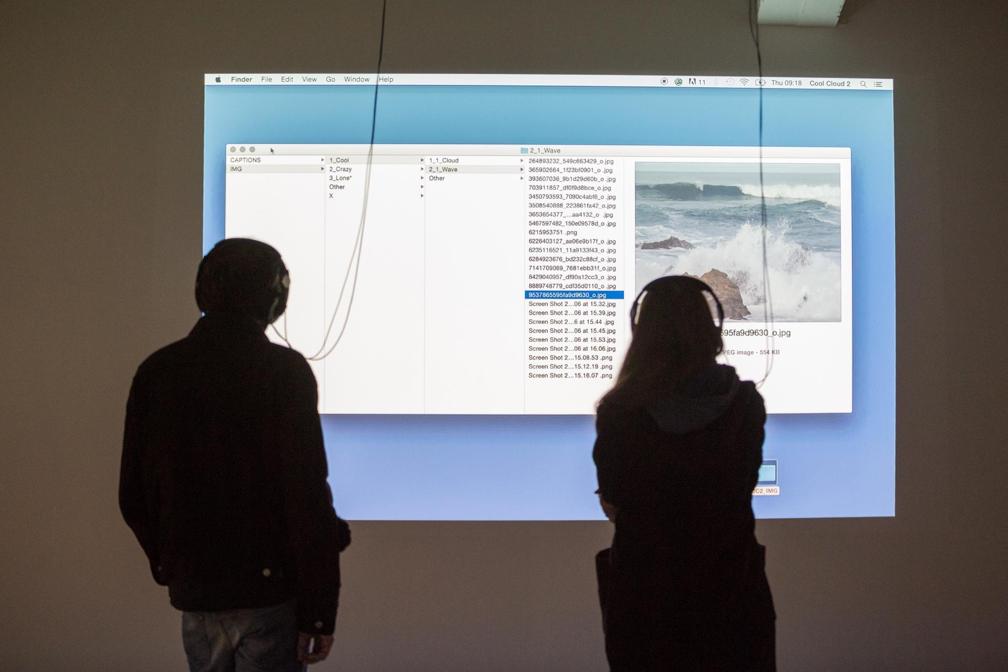 Gefangen in den endlosen Weiten einer Festplatte: Stefan Karrers Installation im Haus der elektronischen Künste (HeK).