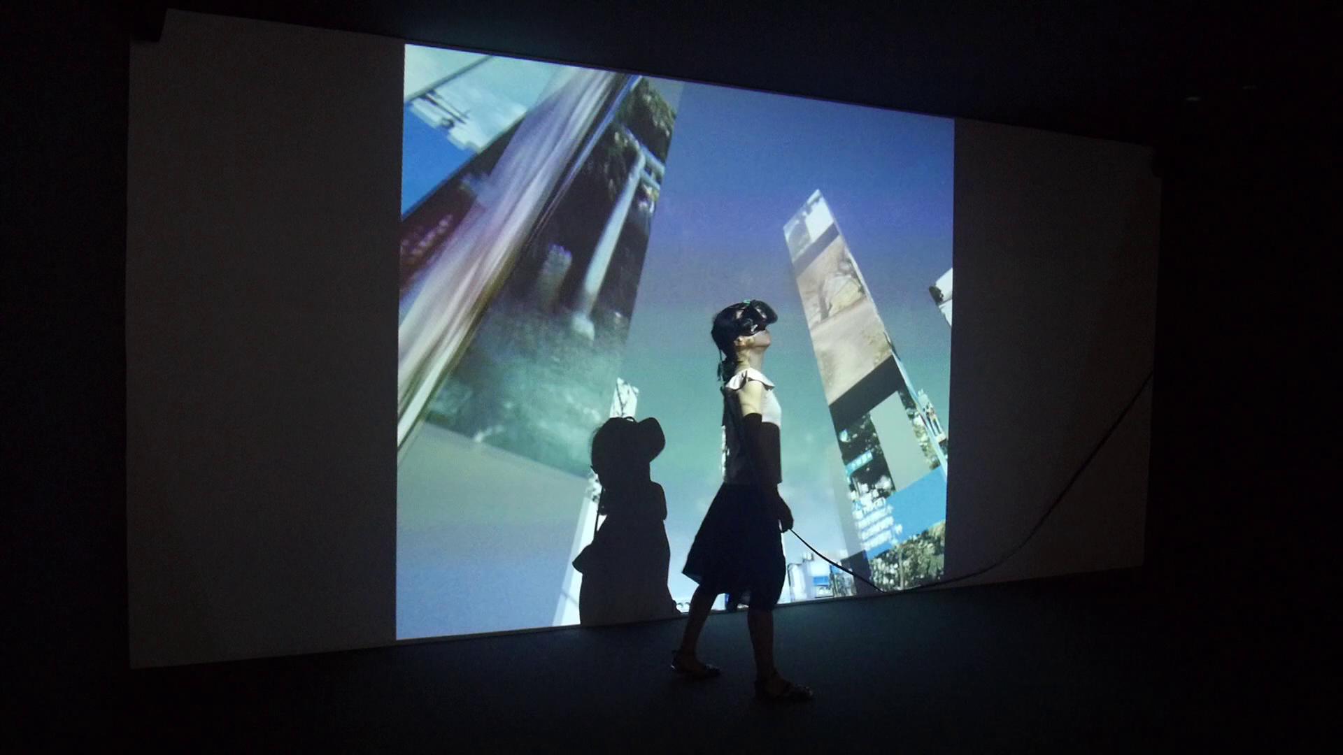 Virtueller Couturier: Marc Lee kleidet Baugerüste ein.