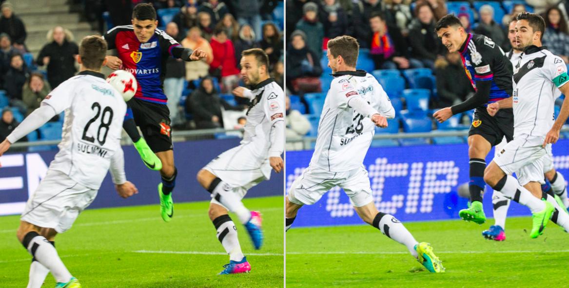 Tore Nummer 1 (links) und 2 des Mohamed Elyounoussi.