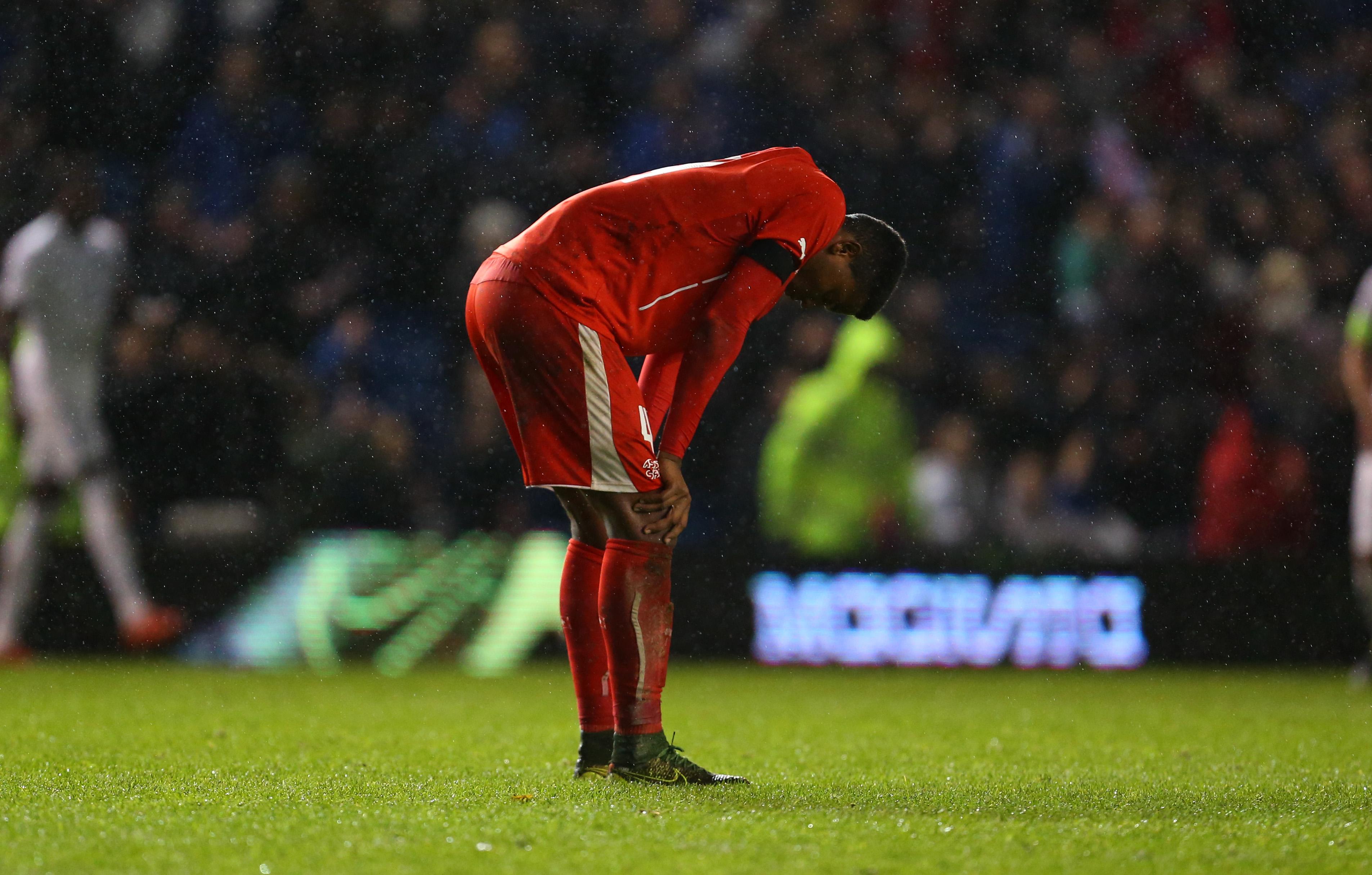 16.11.2015; Brighton; Fussball U21 EM Quali - England - Schweiz; Manuel Akanji (SUI) (Catherine Ivill/AMA/freshfocus)