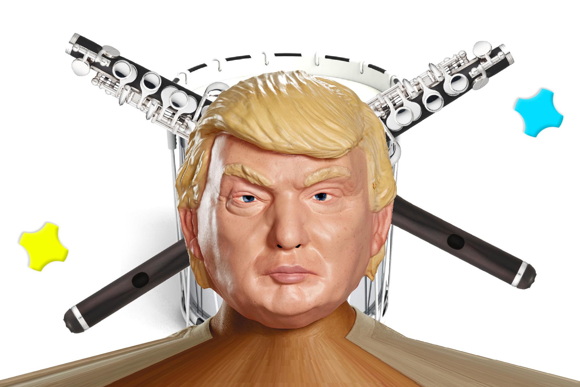 Ein bisschen dürfte auch er die Sujets beeinflusst haben: Auch wenn es nach He-Man aussieht, es ist US-Präsident Donald Trump.