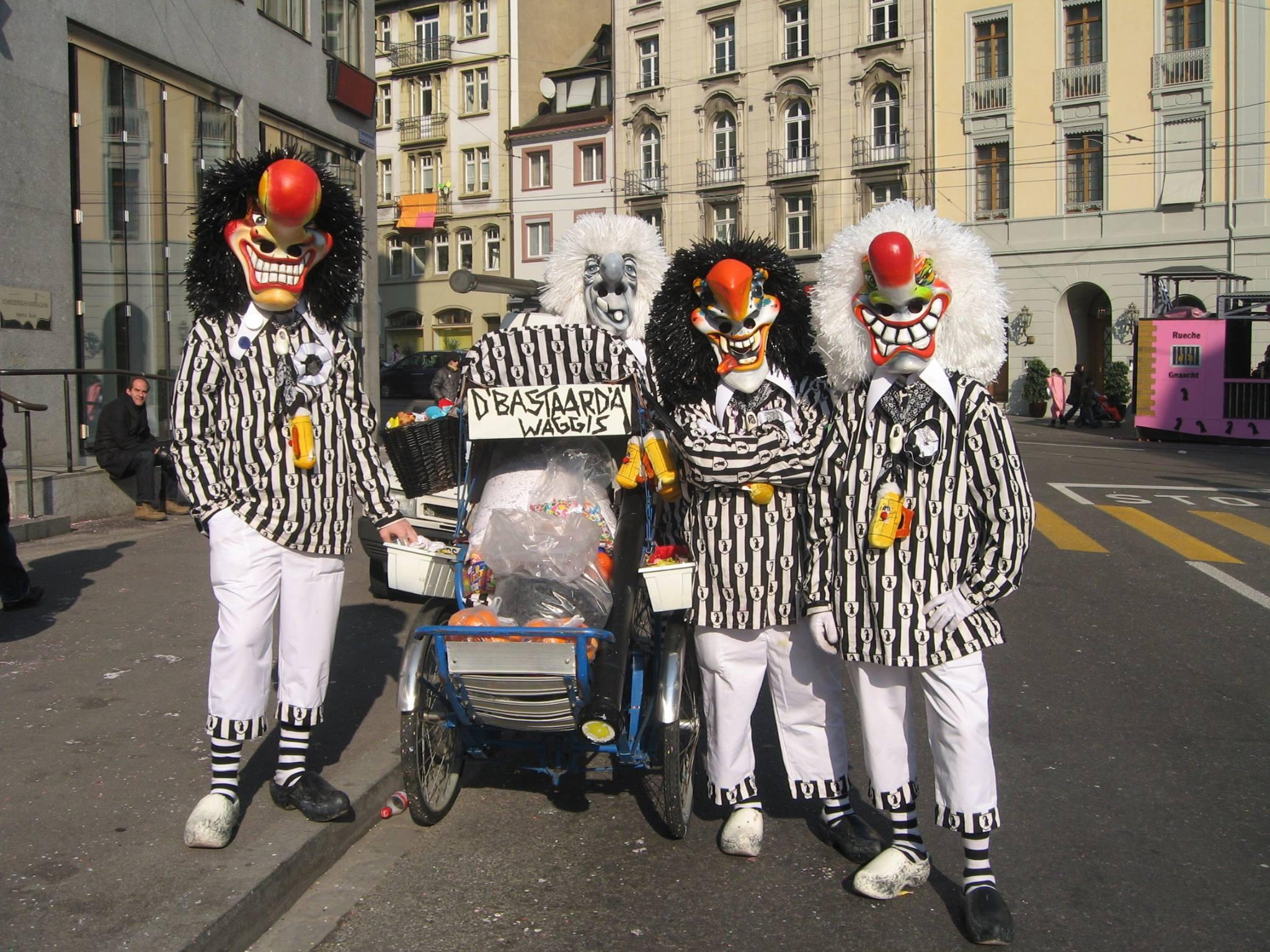 Die «Bastaardä-Waggis» 2008 an ihrer ersten gemeinsamen Fasnacht.