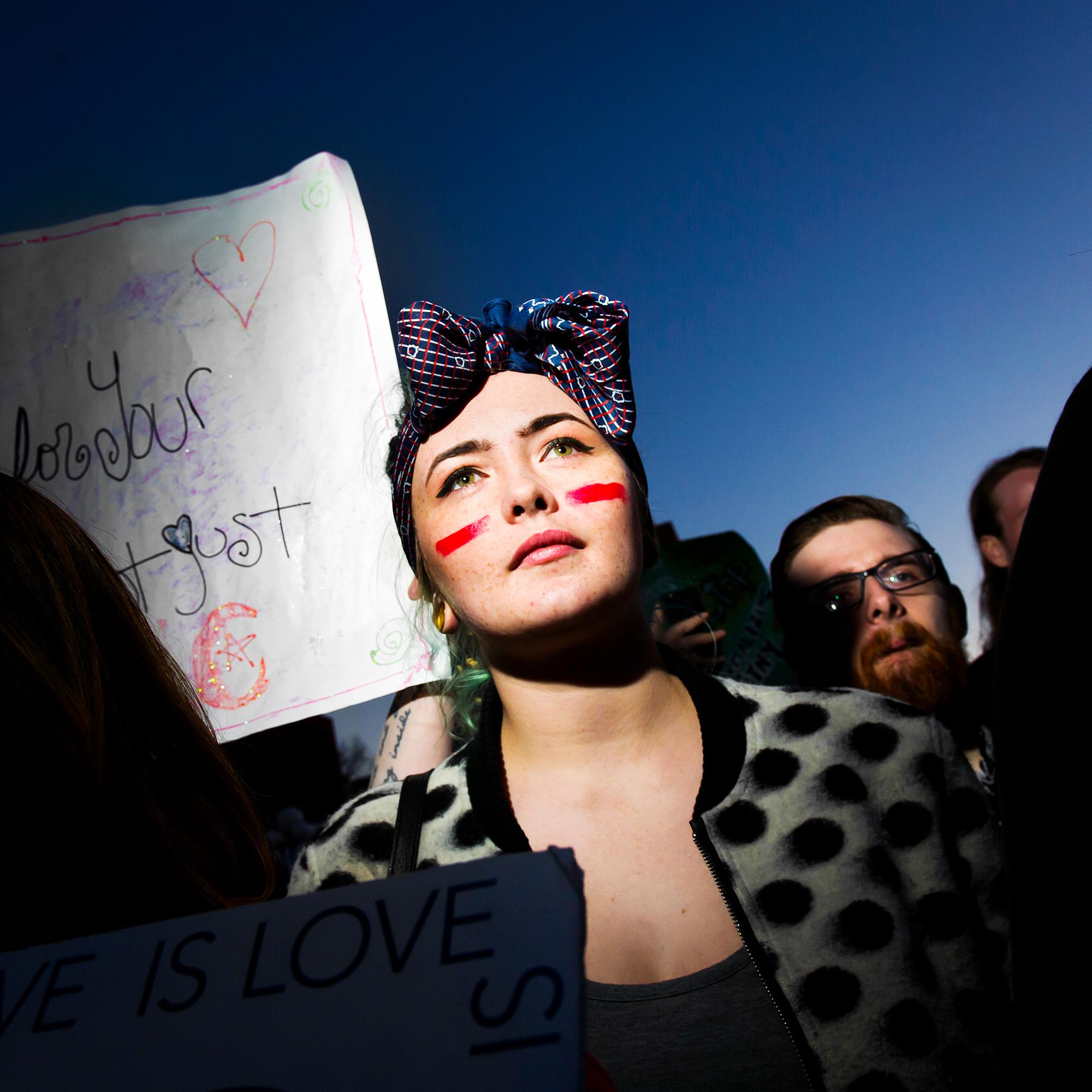 Eindrücke vom women's strike am Weltfrauentag, 8. März 2017, in New York.