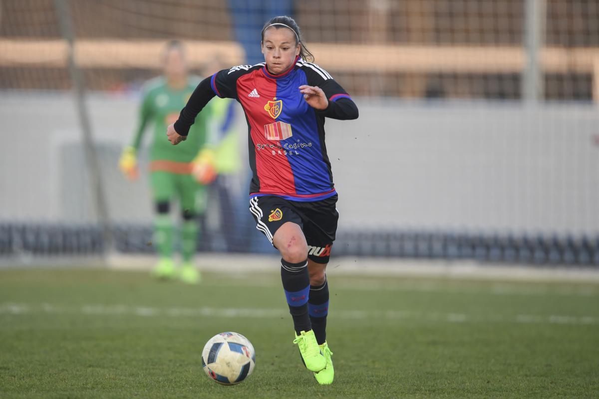 18.02.2017; Basel; Fussball NLA Frauen - FC Basel - FC Luzern; Ria Percival (Basel) (Andy Mueller/freshfocus)
