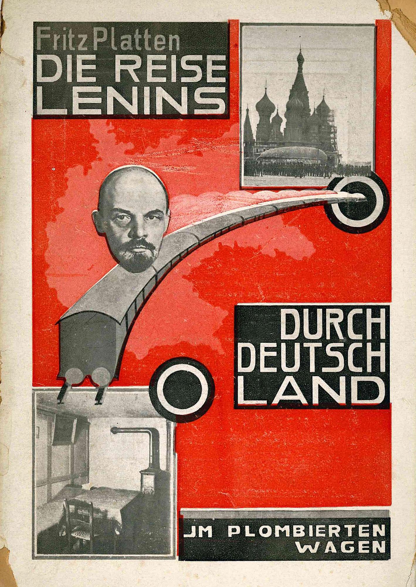 Die Reise auf einen Blick: Deckel der Erstausgabe von Fritz Plattens Rückblick auf die historische Fahrt (1924).