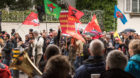 <p>Der Demonstrationszug ging vom Messeplatz über die Wettsteinbrücke zum Barfüsserplatz.</p>