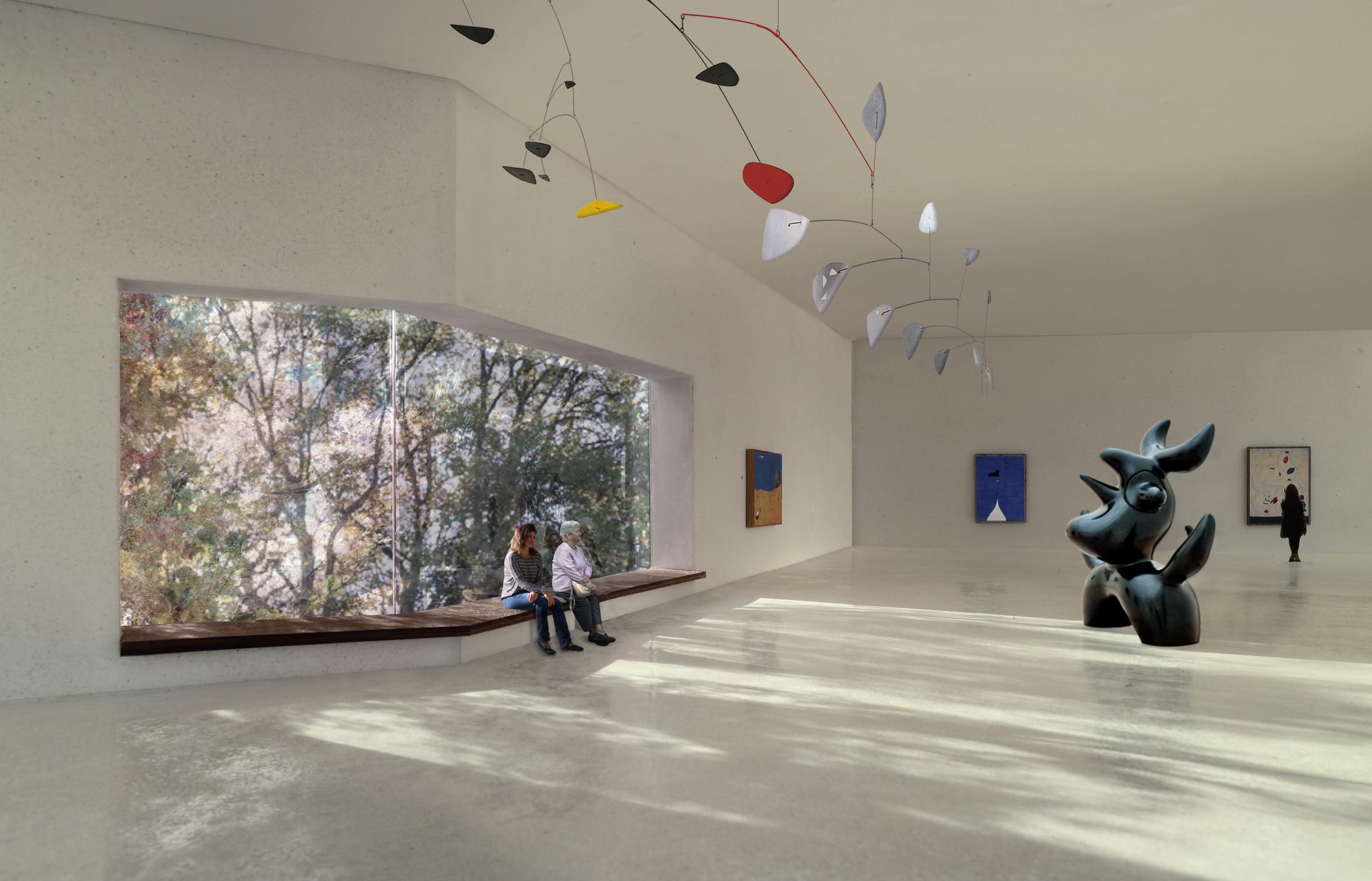Visualisierung der grosszügigen Ausstellungsräume.