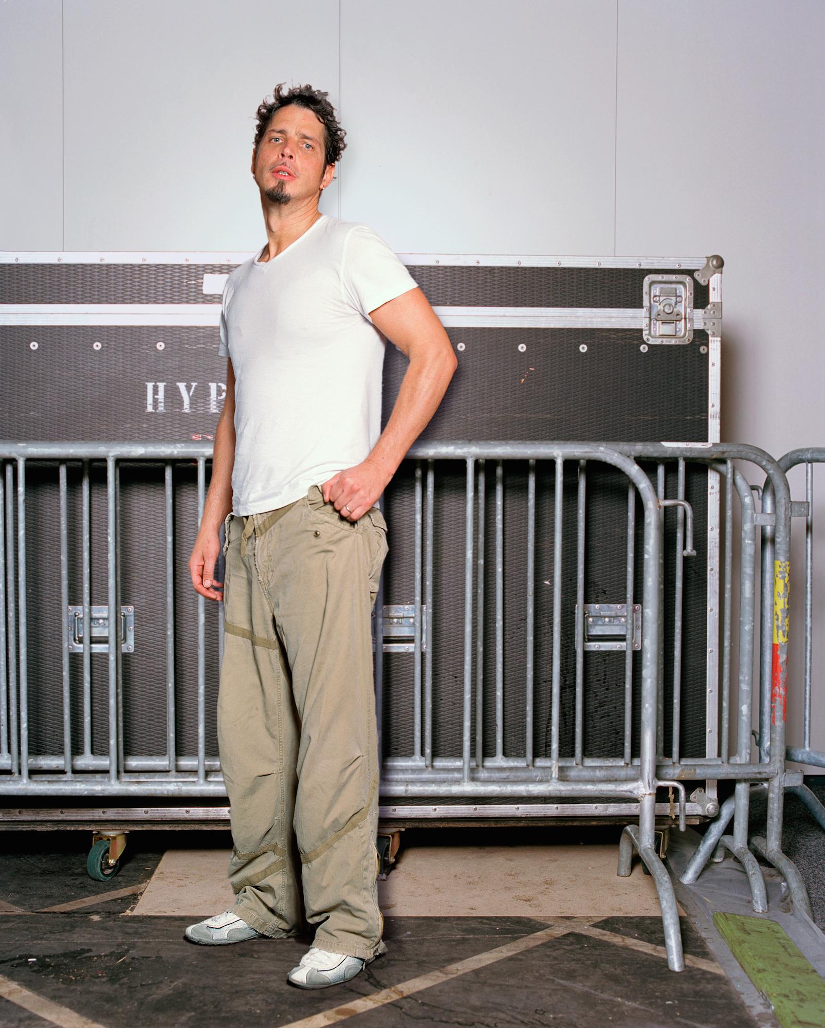 Chris Cornell nach einem Konzert mit Audioslave am Jazz Festival Montreux 2005.