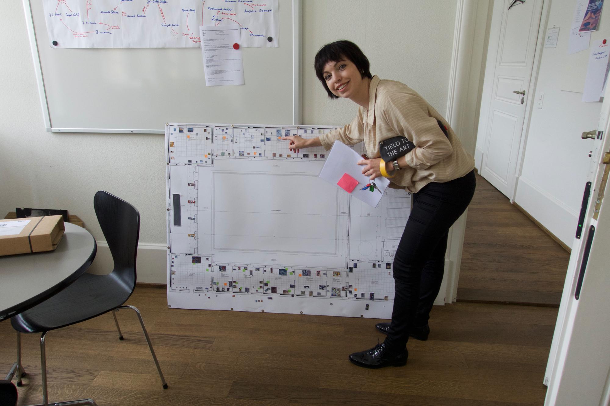 Kleine Bildchen auf einem Plan: So entsteht eine Ausstellung.