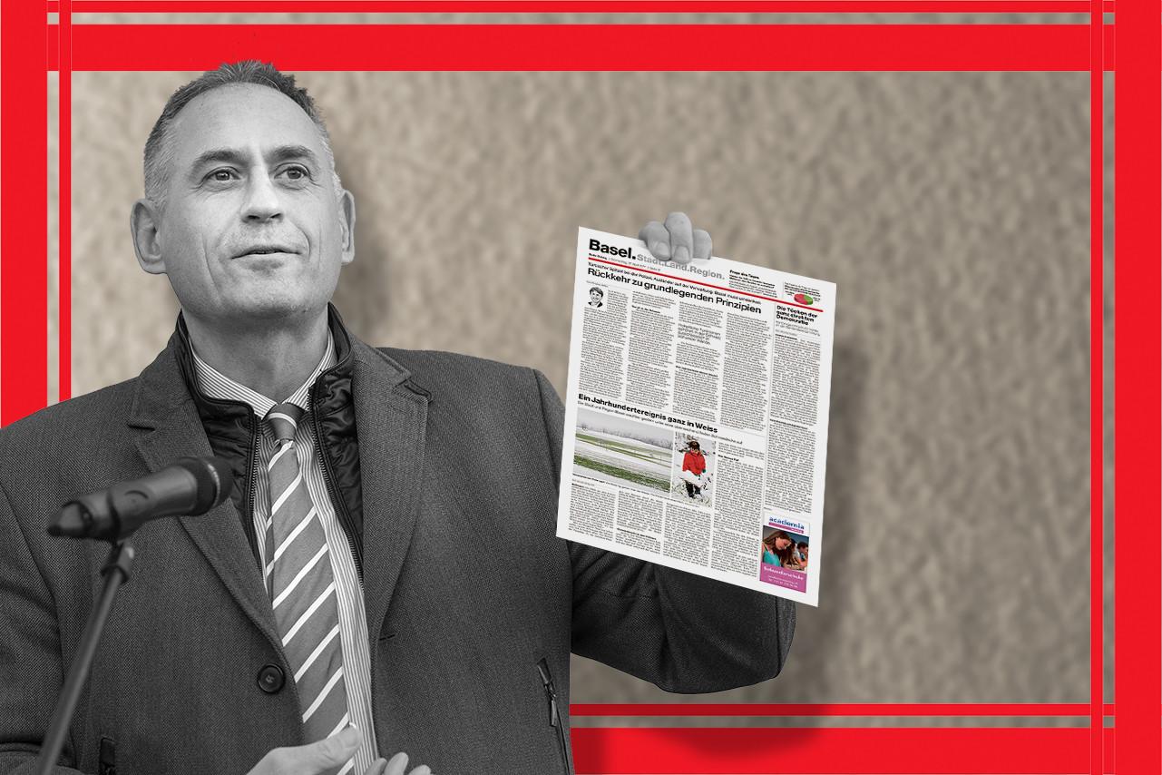 Regierungsrat Hans-Peter Wessels mahnt BaZ-Chefredaktor Markus Somm, «die Regeln des Anstands, der Fairness und der Verh�