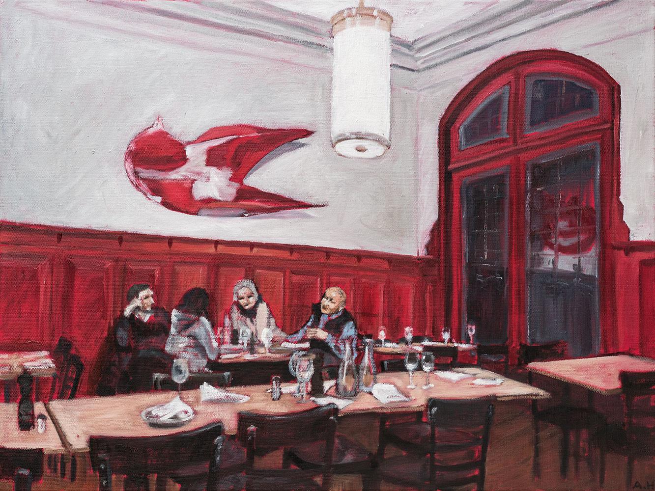 Wenn das Restaurant zur Heimat wird: Spätabends im Restaurant zur Mägd.