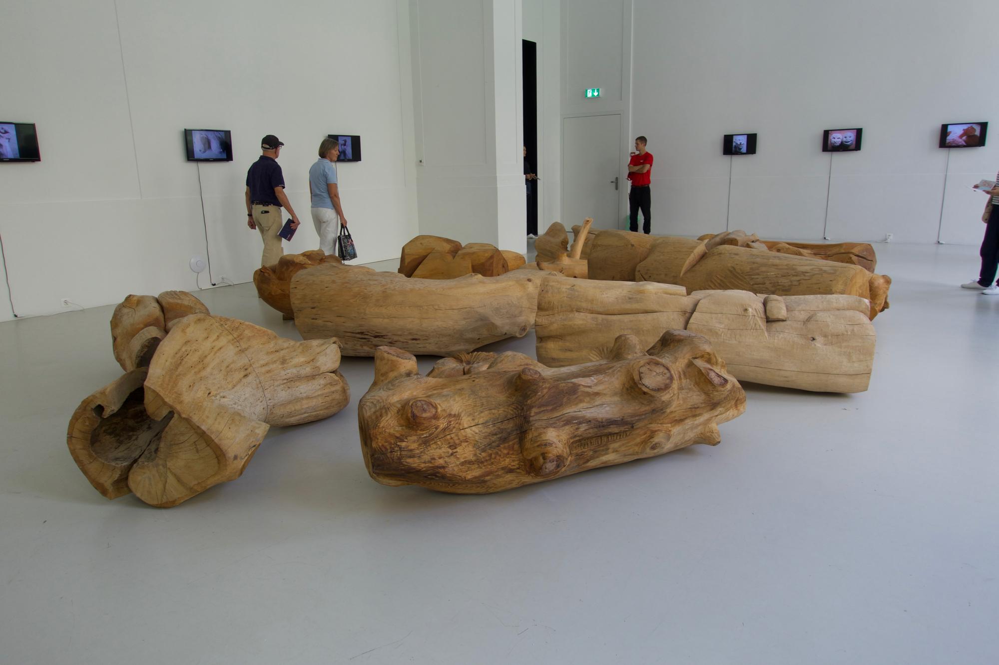 «Schlachtfeld/Alterswerk» von Miriam Cahn im Museum der Kulturen.