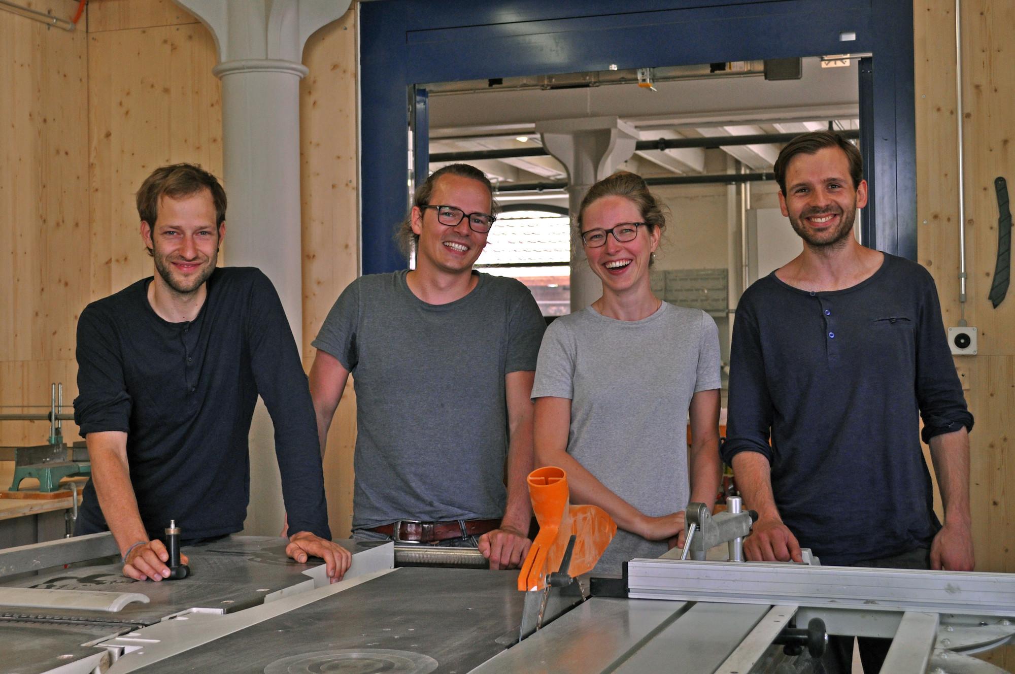 Wollen nicht mehr allein im Chämmerli werkeln: Nicolas Beerli, Nicolai Diamant, Sarah Grossenbacher, Roman Müller.
