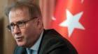 Ilhan Saygili, Botschafter der Tuerkischen Republik in Bern spricht an einer Medienkonferenz, am Freitag 14. Juli 2017, in Be