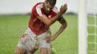 epa06175412 Swiss midfielder Eren Derdiyok reacts during the 2018 FIFA World Cup group B qualification soccer match between S