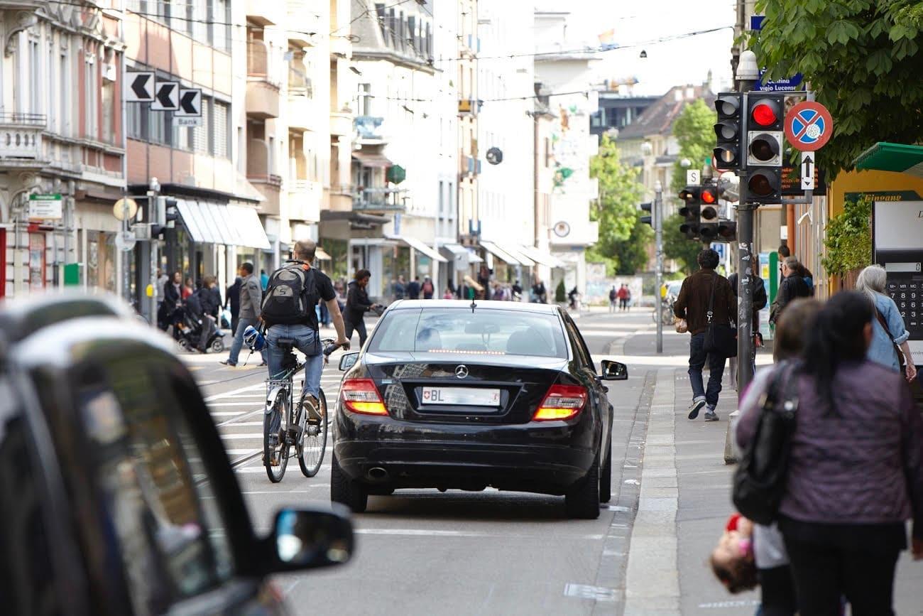 Die Basler Regierung möchte den Autoverkehr nicht mehr reduzieren müssen.