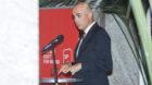 Alain Berset verteidigt die Rentenreform vor der SP Basel.
