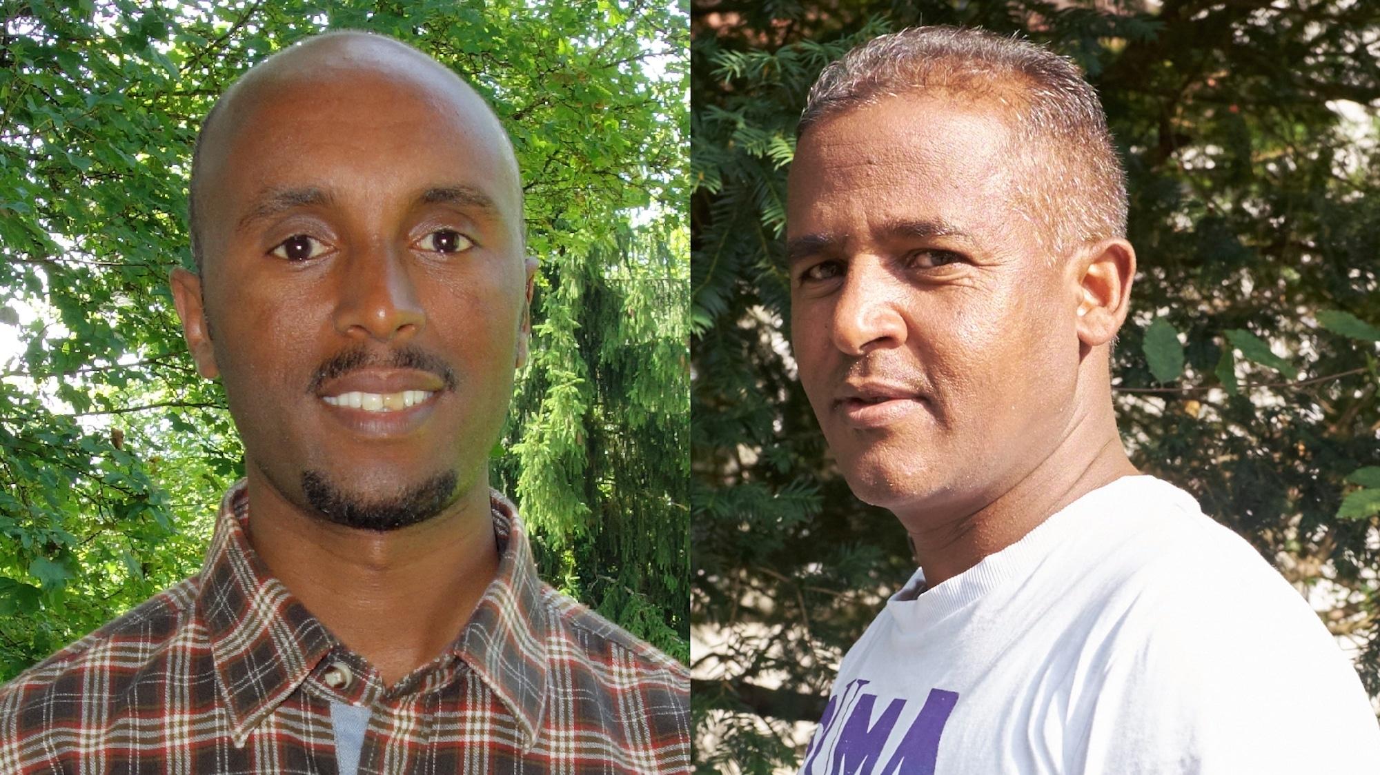 Okbaab Tesfamariam (links) und Zeru Fesseha (rechts) leiden unter den böswilligen Berichten über ihre Landsleute.