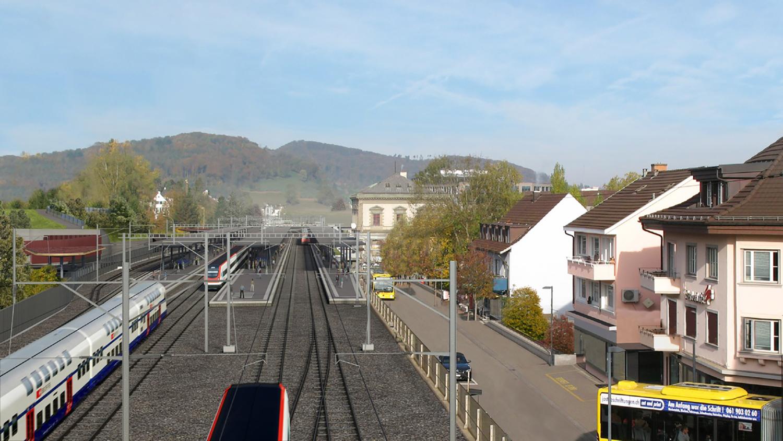 Dank einem zusätzlichen Perron und einem Wendegleis soll der Bahnverkehr in Liestal zügiger werden.