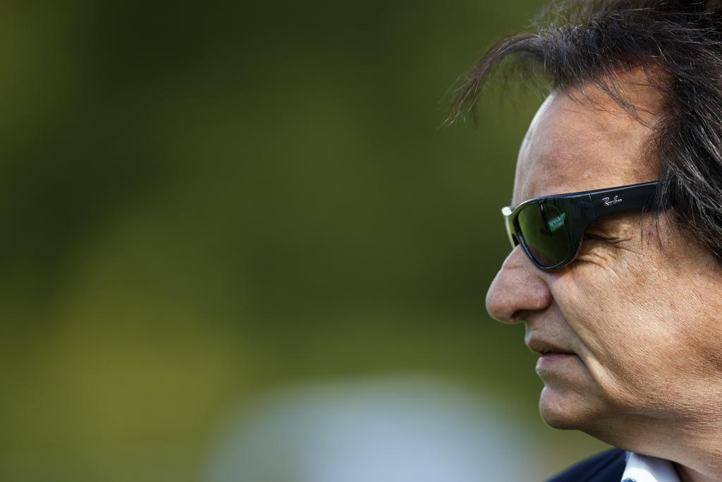 Le president du FC Sion Christian Constantin reagit avant la rencontre de 16eme de finale de la Coupe Suisse de football entr