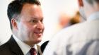 Sebastian Frehner, SVP-BS vom Kontra Komitee gibt ein Interview zu den Abstimmungsresultatetn zur Rentenreform, am Sonntag, 2