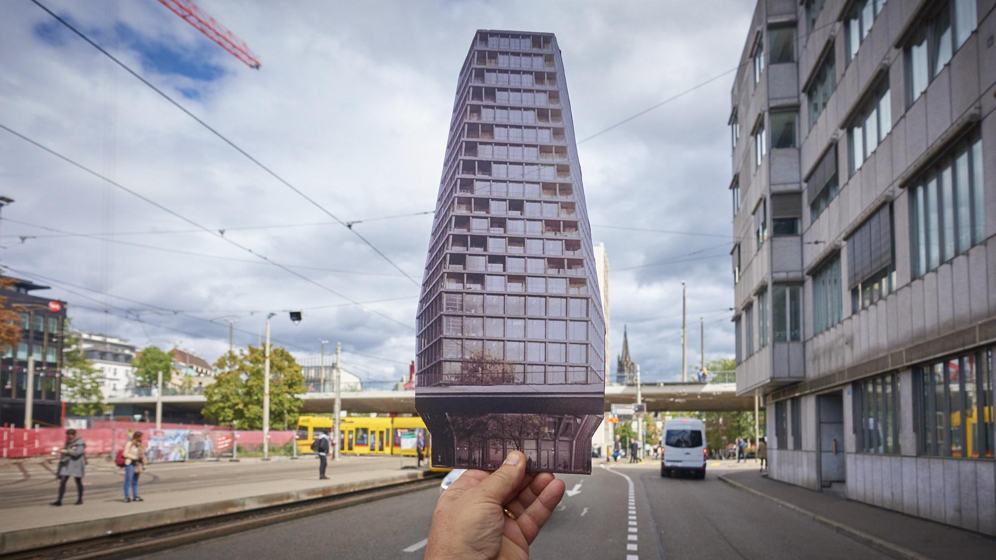 So soll das heuwaage hochhaus aussehen und genau deswegen gibts jetzt eine hitzige debatte - Architekturburo basel ...
