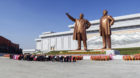 Statues of former Presidents Kim Il-Sung and Kim Jong Il, Pyongyang, North Korea (Democratic People's Republic of Korea), Asi