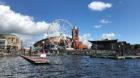 Am Hafen, wo vor hundert Jahren Ruhe einzog, tobt heute wieder das Leben.