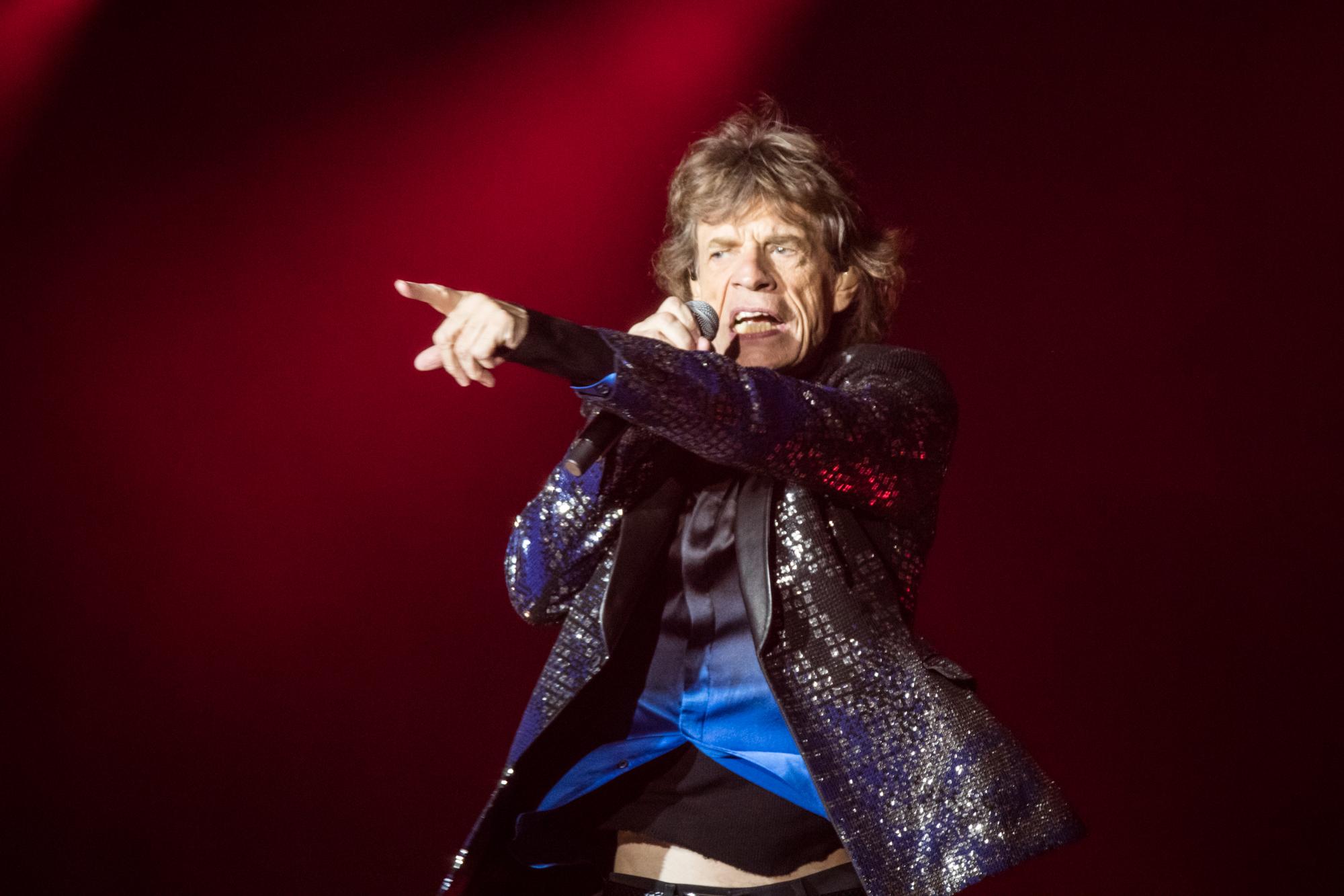 Die Rolling Stones auf ihrer No Filter Tour im Letzigrund in Zürich.