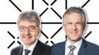 Jürg Gutzwiller (links) ist Verwaltungsrat bei der Bankiervereinigung, Beat Oberlin war 12 Jahre CEO der Basellandschaftlich