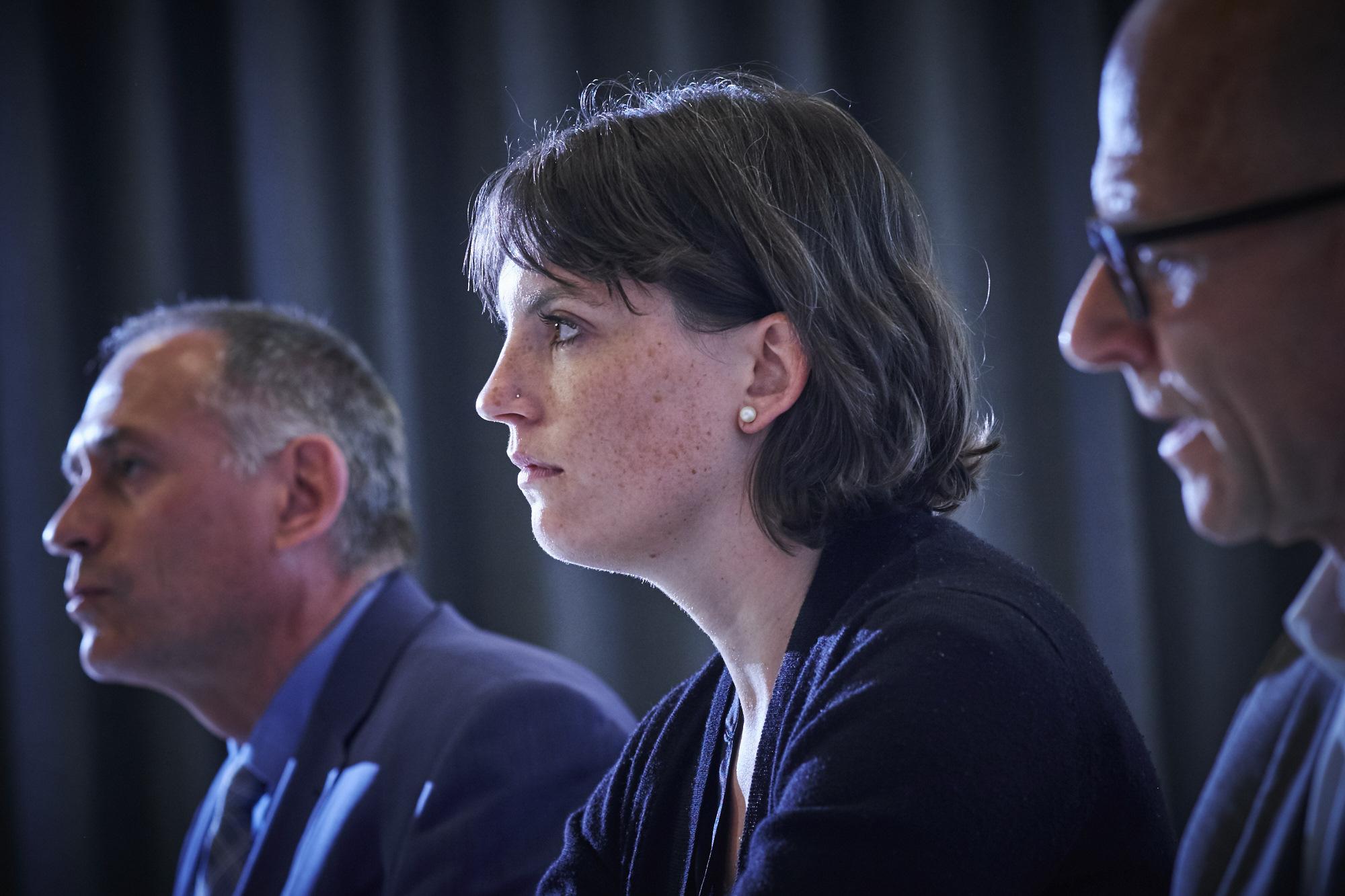 Mirjam Ballmer verteidigte an der Pressekonferenz Anfang September Hans-Peter Wessels und den Kurs der BVB. Damit verärgerte